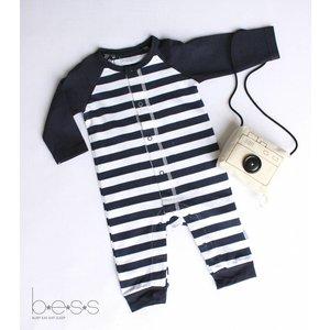 B.E.S.S. suit boy striped blue