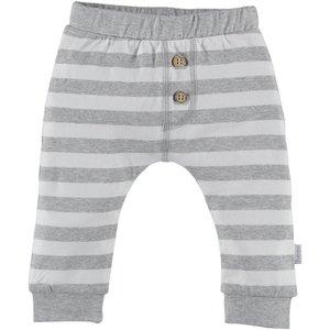B.E.S.S. pants unisex striped grey
