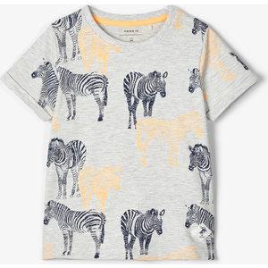 NAME IT jongens t-shirt light grey melange