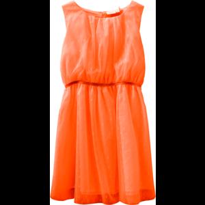 NAME IT meisjes jurk neon coral