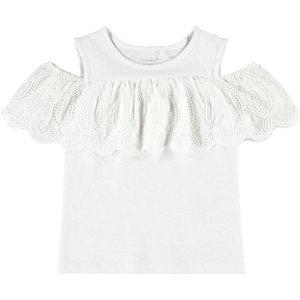 NAME IT meisjes hemd bright white