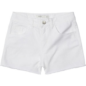 NAME IT meisjes korte broek bright white