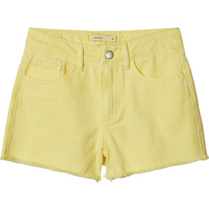 NAME IT meisjes korte broek yellow iris