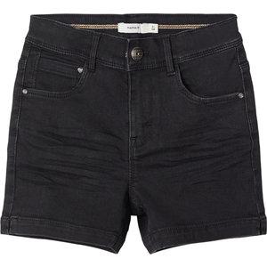 NAME IT meisjes korte broek black denim