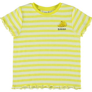 NAME IT Name It meisjes t-shirt limelight bright white