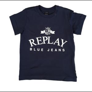 REPLAY Replay jongens t-shirt navy