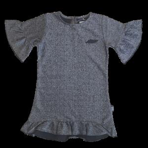 KOKO NOKO Koko Noko meisjes jurk silver glitter (LIMITED EDITION)