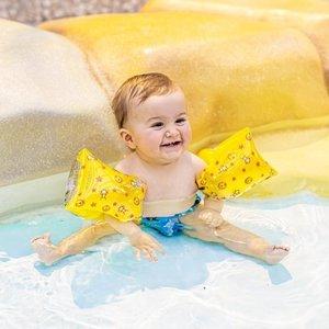 SWIM ESSENTIALS jongens zwembandjes geel circus