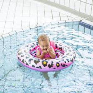 SWIM ESSENTIALS meisjes  zwemzitje rosé goud panter
