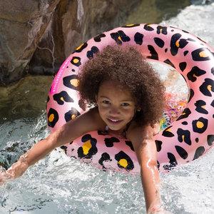 SWIM ESSENTIALS meisjes zwemband rosé goud panter
