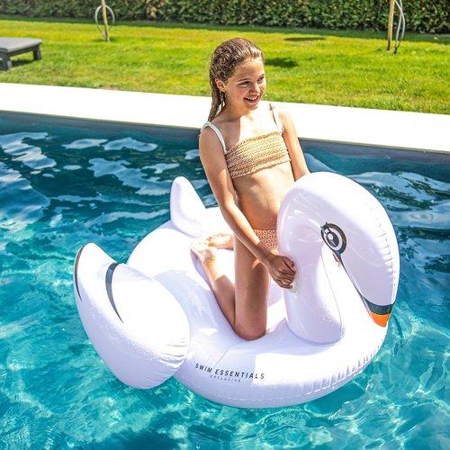 SWIM ESSENTIALS Swim essentials meisjes  opblaasbare zwaan wit