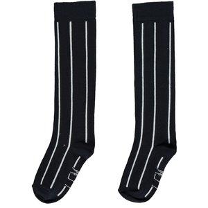 LEVV meisjes sokken dark navy white stripe