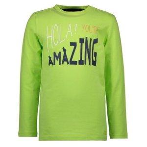 BAMPIDANO jongens longsleeve bright green hola! you're amazing