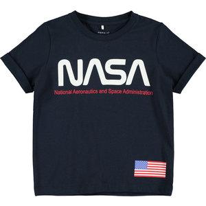 NAME IT jongens t-shirt dark sapphire nasa