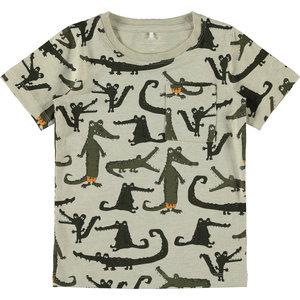 NAME IT jongens t-shirt peyote melange