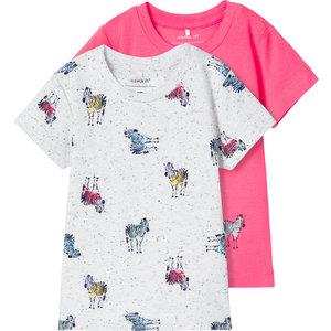 NAME IT jongens 2-pack t-shirt calypso coral