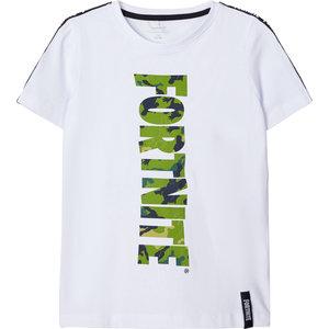 NAME IT jongens t-shirt bright white fortnite