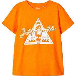 NAME IT jongens t-shirt vibrant orange