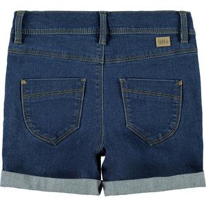 NAME IT meisjes korte broek medium blue denim