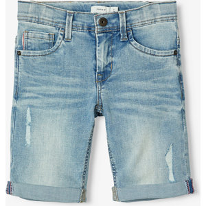 NAME IT jongens korte broek light blue denim