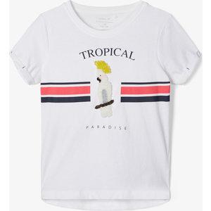 NAME IT meisjes t-shirt bright white bird