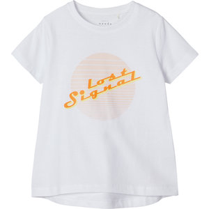NAME IT meisjes t-shirt bright white