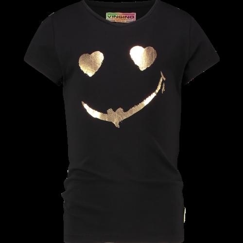 VINGINO VINGINO meisjes t-shirt deep black helaine