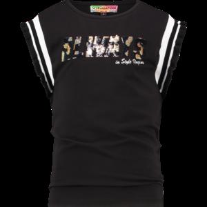 VINGINO VINGINO meisjes t-shirt deep black hulia