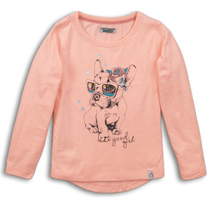 DJ DUTCHJEANS meisjes longsleeve peach yes! you go girl!