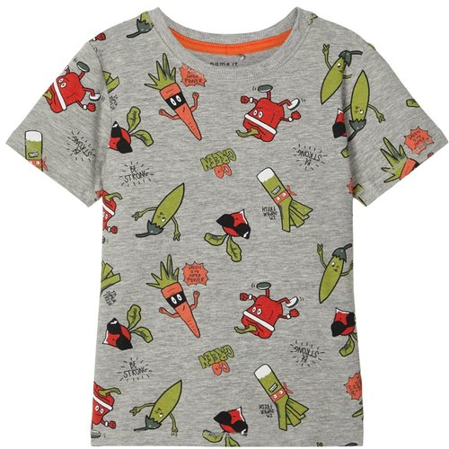 NAME IT Name It jongens t-shirt grey melange