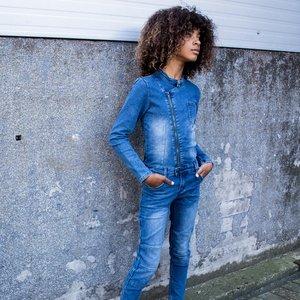 DUTCH DREAM DENIM meisjes jumpsuit blue vipi