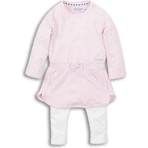DIRKJE BABYKLEDING Dirkje meisjes 2 delige set pink off white enjoy
