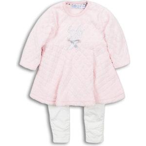 DIRKJE BABYKLEDING Dirkje meisjes 2 delige set jurk pink off white enjoy