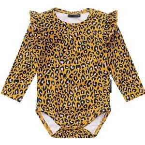 YOUR WISHES meisjes romper leopard ochre