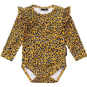 YOUR WISHES Your Wishes meisjes romper leopard ochre