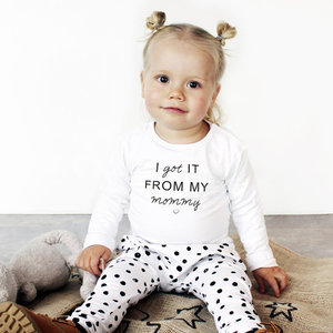 YOUR WISHES Your Wishes unisex broek off-white spots