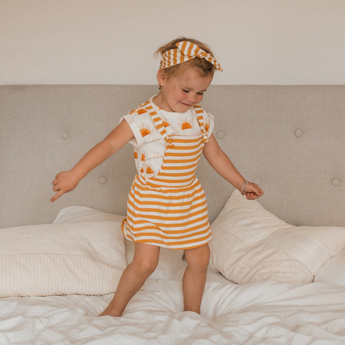 YOUR WISHES Your Wishes meisjes hoofdband stripes ochre