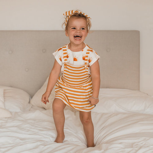 YOUR WISHES Your Wishes meisjes jurk stripes ochre