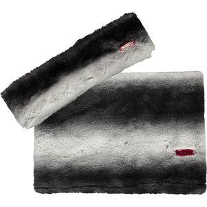 B.NOSY meisjes sjaal en haarband black/white striped fur