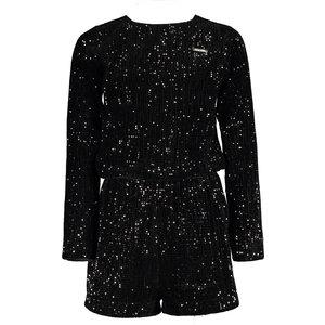 ELLE CHIC meisjes jumpsuit black velours sequins
