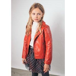 LIKE FLO meisjes fake leather biker jacket pumpkin