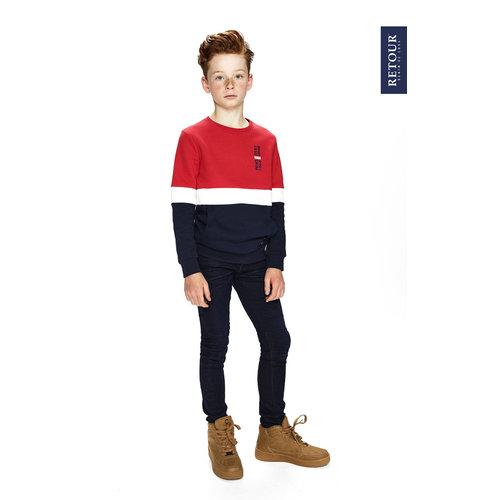RETOUR DENIM DE LUXE Retour Jeans jongens trui red mark