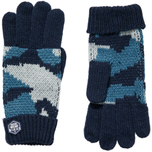 Quapi jongens handschoenen dark blue camou devan