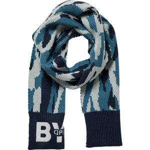 Quapi jongens sjaal dark blue camou devid