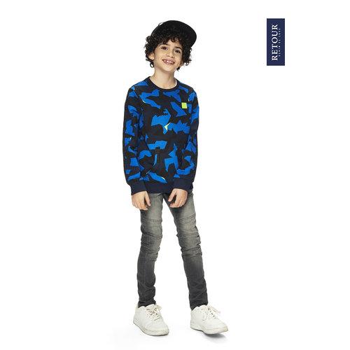 RETOUR DENIM DE LUXE Retour Jeans jongens trui electric blue ross