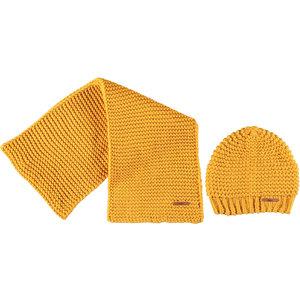 NOBELL meisjes muts en sjaal set yellow gold raya