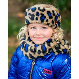 B.NOSY meisjes sjaal en haarband cobalt panther fur