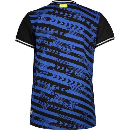 B.NOSY B.Nosy jongens t-shirt forward oxford stripe b. fast