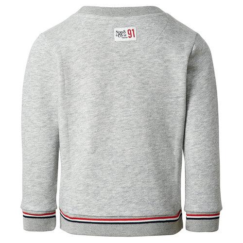 NOPPIES NOPPIES jongens sweater ras105 l. grey mel.