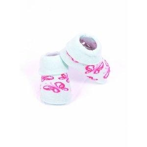 APOLLO sokjes butterfly mintgroen met roze giftbox! Newborn